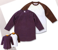 6.2oz. RAGLAN 3/4 SLEEVE T-SHIRT(UNITED ATHLE)