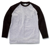 6.2oz. RAGLAN LONG SLEEVE T-SHIRT(UNITED ATHLE)