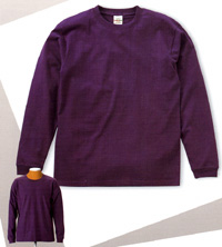 6.2oz. LONG SLEEVE T-SHIRT[1.6inch Rib](UNITED ATHLE)
